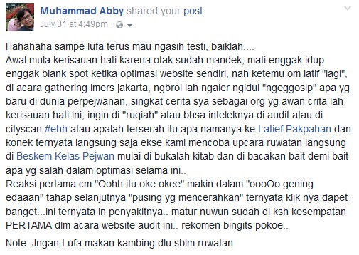 website audit testimony abby